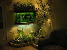 Aquarium Garden, Aquarium Landscape, Aquarium Fish Tank, Planted Aquarium, Vivarium, Fish Tank Terrarium, Fish Tank Design, Cool Fish Tanks, Amazing Aquariums