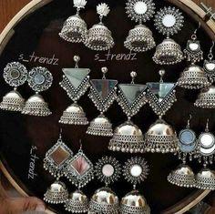 KidsTujhe chaha Rabb se bhi zyada Phir bhi na tujhe paa sake Rahe tere dil mein magar Teri dhadkan tak na jaa sake Judke bhi tooti rahi Ishqe di dor ve Kisko sunaaye jaa ke Toote dil ka shor ve Indian Jewelry Earrings, Silver Jewellery Indian, Jade Jewelry, Sterling Jewelry, India Jewelry, Bridal Jewelry, Silver Earrings, Silver Jewelry, Silver Ring