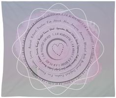 Positive Affirmation Tapestry Wall Hanging Art Custom Available Gray and Pink