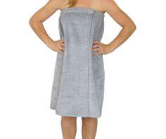 55b61c46d7 Women s 100% cotton silver bath wrap - zoomed S Spa