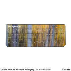 Golden Autumn Abstract Photography Wireless Keyboard