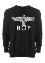 Black Long Sleeve Eagle BOY Print Sweatshirt   This is on my TOP wishlist. waah