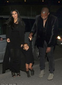 Back to black: The trio were well co-ordinated in matching ensembles, but Nori stole the show in her fashionable get-up