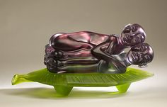 "Susan Silver Brown , 'Summoning Samadhi (Two peas in a pod) - cast lead crystal glass, dimensions: 10""24""x14"""