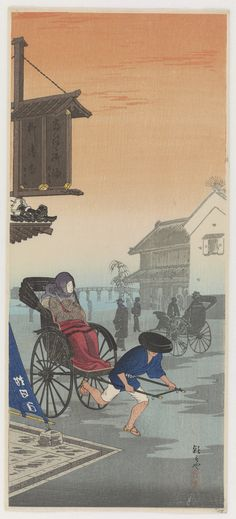 Image result for japanese woodcut carriages concubines