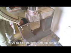 """Massive rocket stove heater """"Tamed Dragon"""" - second stage in construction - YouTube"""