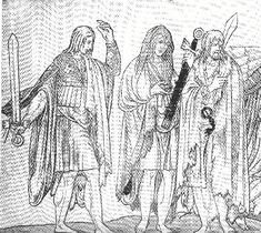 The poorer Irish wore a standard outfit that would more than likely have been found not only in the British Isles but also on the continent. This outfit consisted of the Inar, Trius, Brat, and Léine.