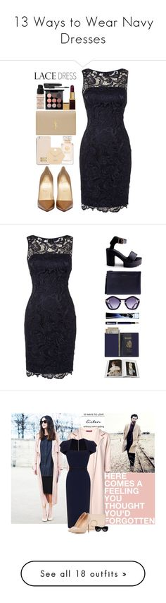 """""""13 Ways to Wear Navy Dresses"""" by polyvore-editorial ❤ liked on Polyvore featuring waystowear, navybluedresses, Adrianna Papell, MICHAEL Michael Kors, Tory Burch, Miss Selfridge, Yves Saint Laurent, Givenchy, MAC Cosmetics and Tom Ford"""
