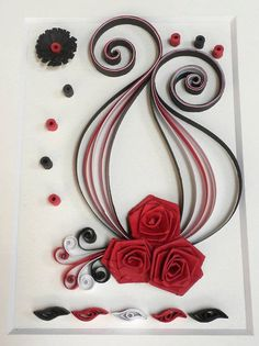 Quilling custom made wall art  hand crafted by Herpaperparadise
