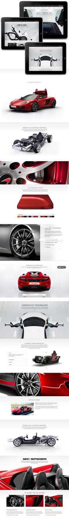 McLaren Automotive Website by Thomas Moeller, via Behance