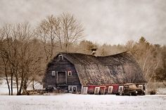 Old barn and truck  8x12 fine art by garyhellerphotograph on Etsy, $39.00