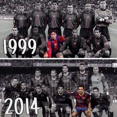 Xavi Hernández from 1999 to 2014 in FC Barcelona #FCBarcelona #football #soccer #fútbol