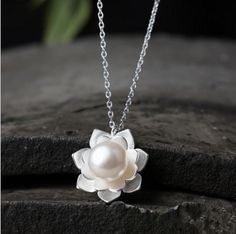 Aliexpress.com : Buy 925 Sterling Silver Lotus Flowers Necklace Pearl Jewelry 925 Sterling Silver  Collares Kolye Necklaces & Pendants for Women from Reliable pendant suppliers on SHNCA 925 Silver Store