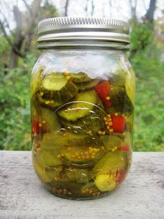 Creating Nirvana: Sweet and Spicy Pickles - these pickles were awesome!   If you don't have dried cayenne try crushed red pepper flakes and a dash of chipotle pepper.