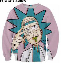 PLstar Cosmos fashion Cartoon Rick and Morty Sweatshirts Men Women 3d Print Streetwear Hipster Pullovers Scientist Rick Cartoon(China)