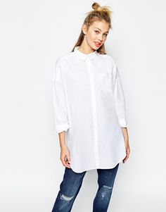 Monki Oversized White Shirt