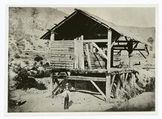 The discovery of gold, Sutter's Mill, where James Marshall, shown in foreground, discovered gold at Coloma, Calif., in 1848