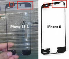 Alleged photos of iPhone 5S front panel show new sensor array - AndroRat