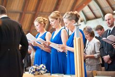 Blue bridesmaids - Graham Young Wedding Photography http://www.grahamyoungphotos.co.uk/