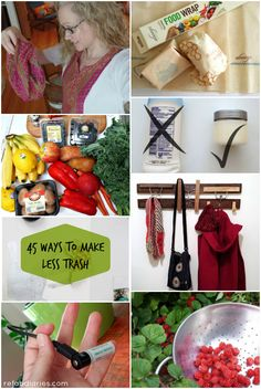 45 ways to make less trash, reduce your rubbish and cut your clutter in 2017.