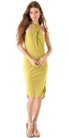 Halston Heritage Halter Neck Dress   Reg. $345, Sale $103.50   love that color