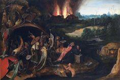 聖アントニウスの誘惑 南ネーデルランドの画家(ヒエロムニス・ボスに基づく)