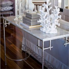 Shop our range of console tables at Regency Distribution. Choose from oak, glass, mirror or gold console table, perfect for your hall or living room. Coastal Living, Home And Living, Living Room, Coastal Style, Coastal Decor, Veranda Interiors, House Interiors, Silver Console Table, Interior And Exterior