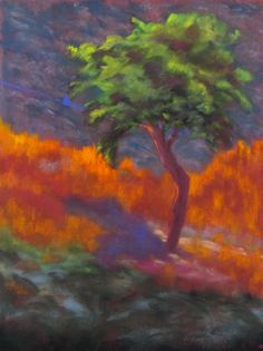 Hot Day on Hydra 40 x 30 cm pastel by Karin Goeppert - available -