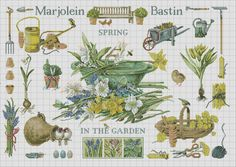 Gallery.ru / Lanarte_34289_MJB_Spring in the Garden - Lanarte. Садовый семплер Marjolein Bastin - embroidery