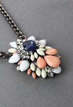 Diamond Jewel Stone Necklace - Accessory - Retro, Indie and Unique Fashion