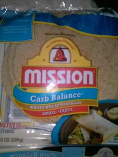 Mission Low Carb Tortillas I love these for wraps, fajita's, and pinwheel finger sandwichces!  5g total carbs per Tortilla, available at Meijer's