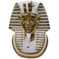 Egyptian King Tut Italian Ceramic Sculpture Bust Hollywood Regency | From a unique collection of antique and modern sculptures at http://www.1stdibs.com/furniture/more-furniture-collectibles/sculptures/
