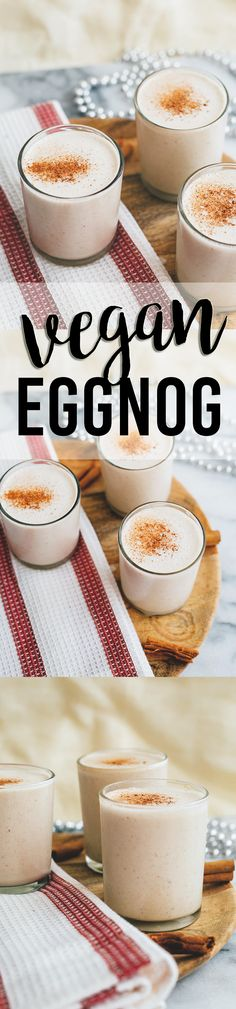 Delicious Dairy Free and Egg Free Eggnog, perfect for the Holidays! #vegan #eggnog #christmas #dairyfree #spices #cinnamon #nutmeg #simple #vitamix #drinks