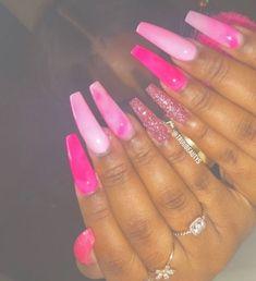 pink nails short - pink nails - pink nails with glitter accent - pink nails acrylic - pink nails short - pink nails with rhinestones - pink nails design - pink nails coffin - pink nails with glitter Short Pink Nails, Pastel Pink Nails, Barbie Pink Nails, Dark Pink Nails, Pink Acrylic Nails, Long Nails, Matte Pink, Pink Acrylic Nail Designs, Dope Nail Designs
