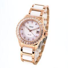 Luxury Ceramic Strap Quartz Ladies Watch