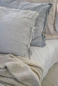 Bed linens handmade looking