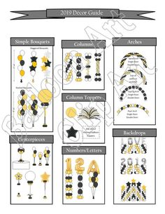 Balloon Arch Diy Discover 2020 Pricing Flyer Style A black and gold in .pub and .pdf and . Balloon Arch Diy, Ballon Arch, Deco Ballon, Balloon Backdrop, Balloon Decorations Party, Balloon Columns, Balloon Garland, Balloon Prices, Create Flyers