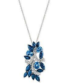 Le Vian® Ceylon Sapphire (3-5/8 ct. t.w.) and Diamond (1/3 ct. t.w.) Pendant…