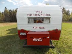 rear Old Campers, Popcorn Maker, Chevy, Restoration, Kitchen Appliances, Vintage, Diy Kitchen Appliances, Home Appliances, Vintage Comics