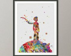 little prince watercolor tattoo design - Google Search