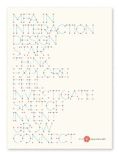 SVA poster - i love type that reminds me of constellations/stars