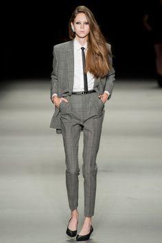 Lady suit. Saint Laurent, Paris Fashion Week