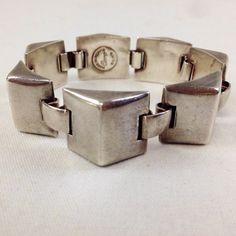 Hector Aguilar Bracelet Taxco Silver  ca 1945  Coro by LoftyMix, $379.00