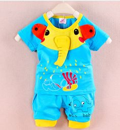 alta qualidade 100% algodão frete grátis 2014 verão novos conjuntos esporte crianças bebê menino roupas casuais menina chegaram vermelho cor...