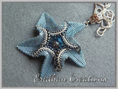 twisted peyote star pendant