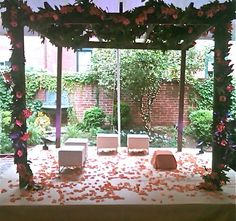 Mandap at Decatur House for Indian Wedding