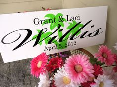 Custom Last Name sign Personalized  sign.