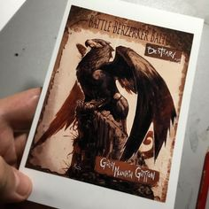 Forgot to feed the beast today...so here's a Griffon 'card' I made a long time ago. Had this idea to sell packs of these at conventions but was never happy with the result. On the back burner it went.   #art #drawing #ink #joverinks #battleberzerkerbalto #bestiary #creature #fantasy #pinterest #tumblr #twitter #blogger #coffee #crunchmode