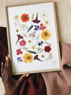 Pressed Flowers Are Forever Diy Arts And Crafts, Crafts To Do, Easy Crafts, Easy Diy, Art Floral, Floral Room, Diy Fleur, Homemade Paint, Butterfly Illustration