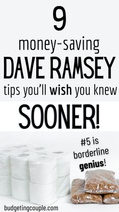 Thinking about taking the Dave Ramsey Challenge? You ready to become debt-free? He'll tell you that you need to spend less money on yourself and put it all towards building your savings and… Ways To Save Money, Money Tips, Money Saving Tips, Money Budget, Financial Peace, Financial Tips, Frugal Living Tips, Frugal Tips, Dave Ramsey Plan
